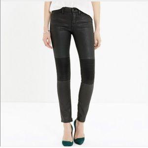 Madewell skinny zip moto jeans